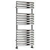Monza 1120 x 500 Stainless Steel Oval Heated Towel Rail profile small image view 1