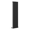 Monza 1600 x 355 Vertical Venetian Style Anthracite Designer Radiator profile small image view 1