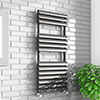 Monza 500 x 1100mm Venetian Style Anthracite Designer Towel Rail profile small image view 1