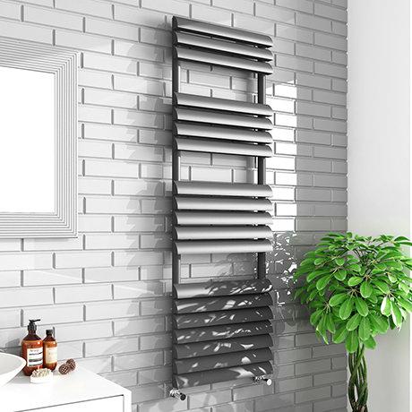 Monza 500 x 1500mm Venetian Style Anthracite Designer Towel Rail