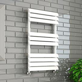 Monza 500 x 850mm Venetian Style White Designer Towel Rail