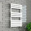 Monza 500 x 850mm Venetian Style White Designer Towel Rail profile small image view 1