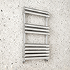 Monza 826 x 500 Polished Stainless Steel Venetian Style Towel Rail profile small image view 1
