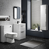 Monza Gloss White Floor Standing Vanity Bathroom Furniture Package profile small image view 1