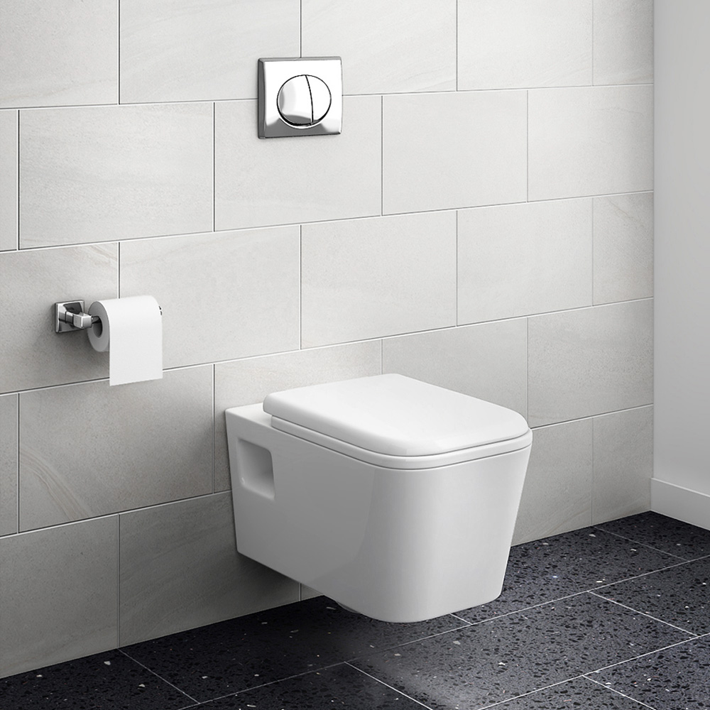Monza Wall Hung Toilet with Concealed Cistern + Frame