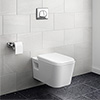 Monza Wall Hung Toilet with Concealed Cistern + Frame profile small image view 1