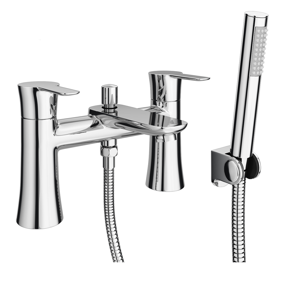 Madrid Bath Shower Mixer with Shower Kit profile large image view 1