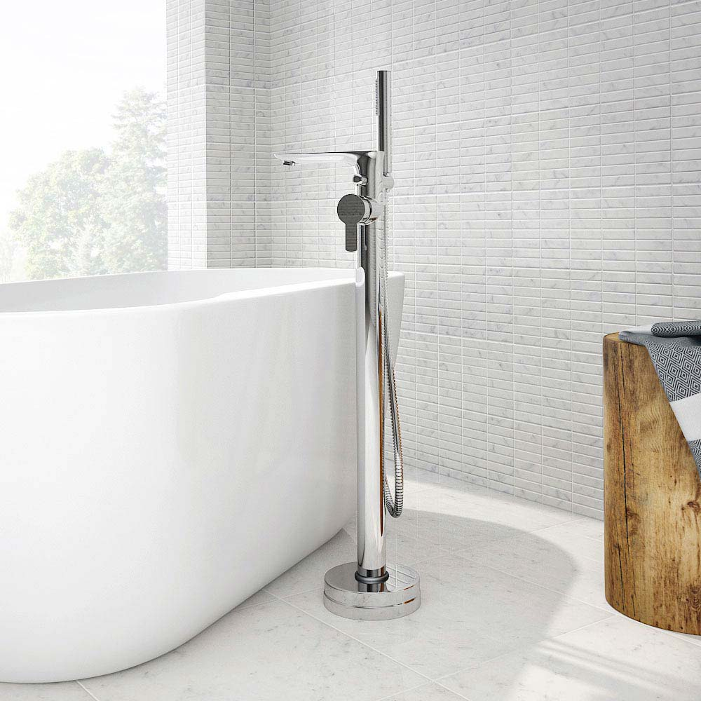 Madrid Floor Mounted Freestanding Bath Shower Mixer profile large image view 2