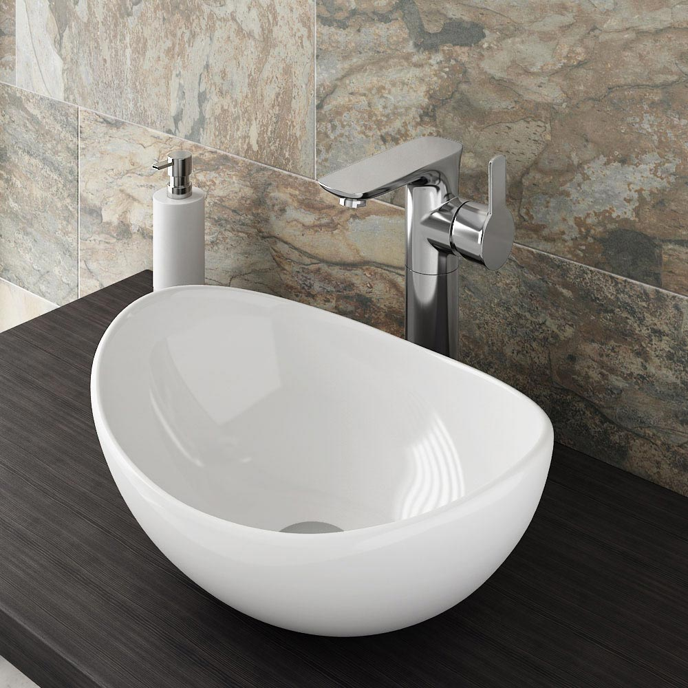 Madrid High Rise Mono Basin Mixer profile large image view 2