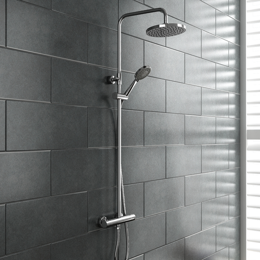 madrid modern round thermostatic shower