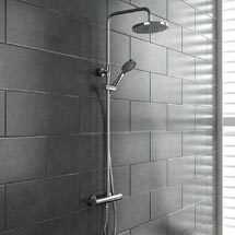 Madrid Luxury Round Thermostatic Shower - Chrome Medium Image