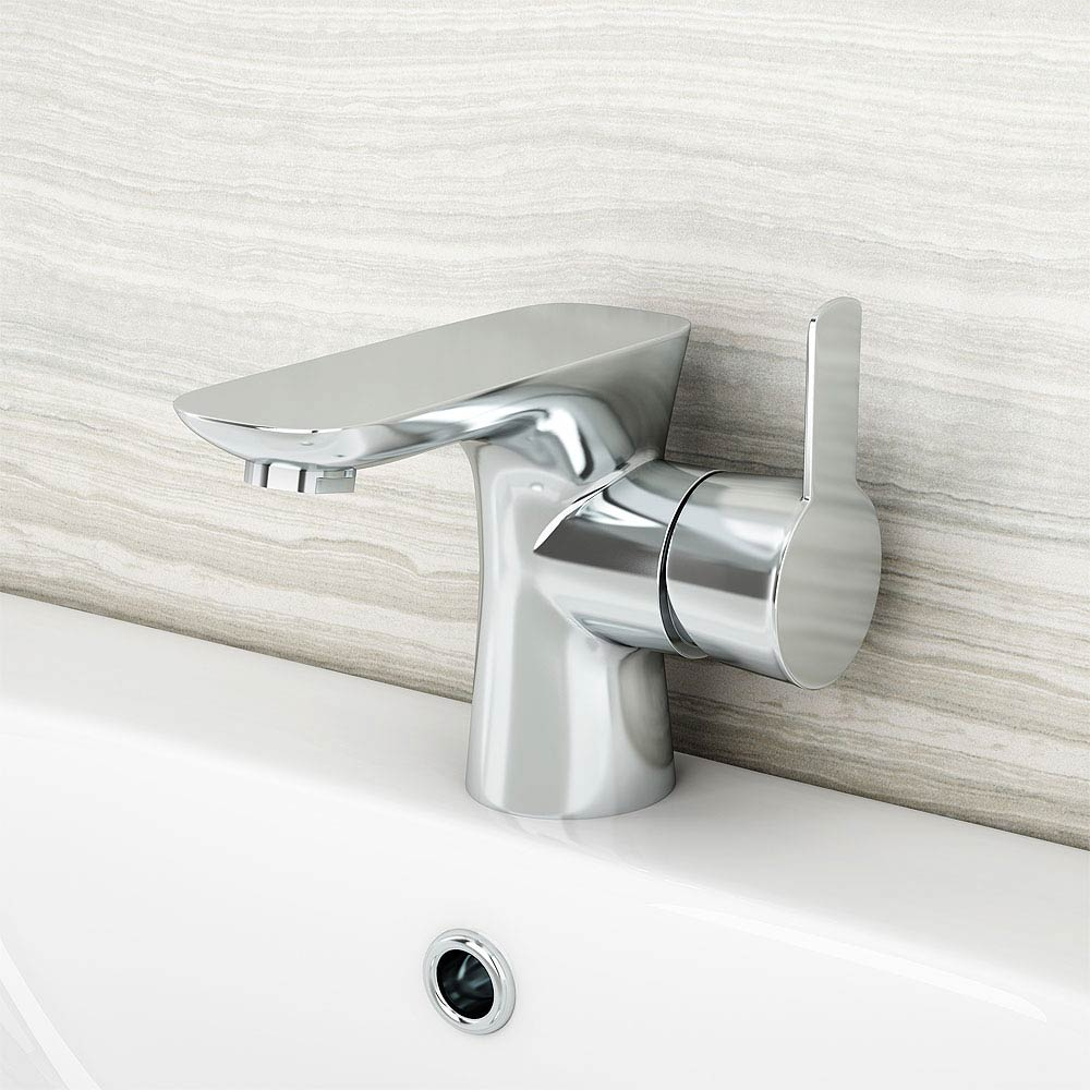 Madrid Mono Basin Mixer Tap with Click Clack Waste profile large image view 4