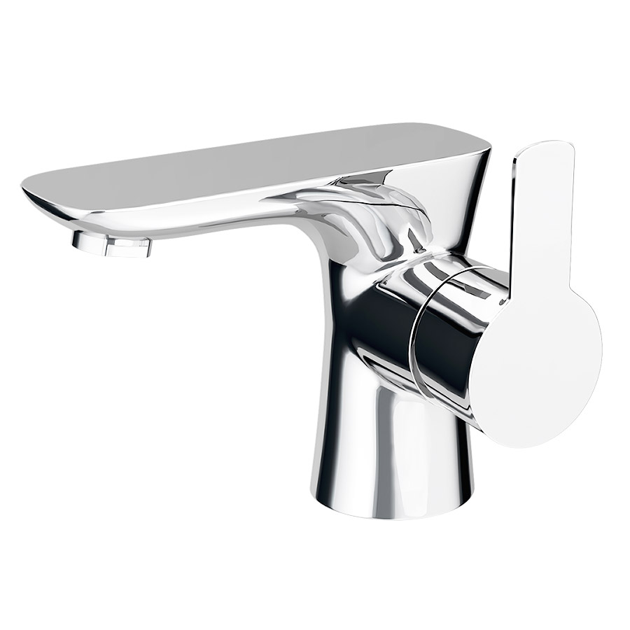 Madrid Mono Basin Mixer Tap with Click Clack Waste profile large image view 1
