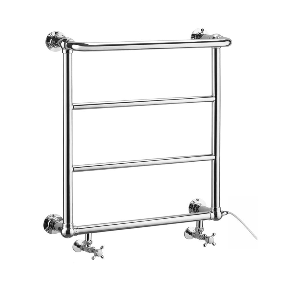 Maine Traditional Towel Rail with Connection for Heating Element Large Image