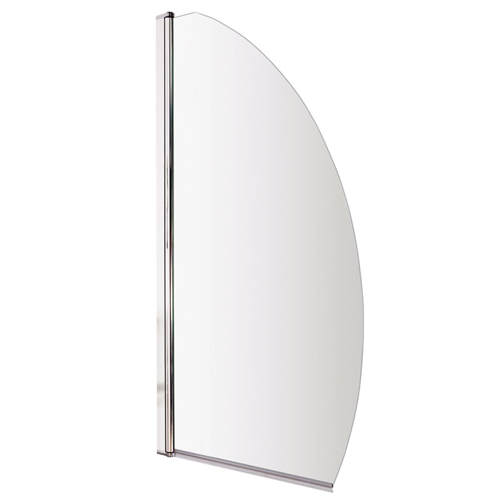 Marina Curved Bath Screen - 800mm Wide profile large image view 2