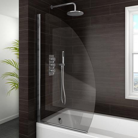 Marina Curved Bath Screen - 800mm Wide