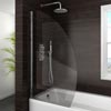 Marina Curved Bath Screen - 800mm Wide Medium Image
