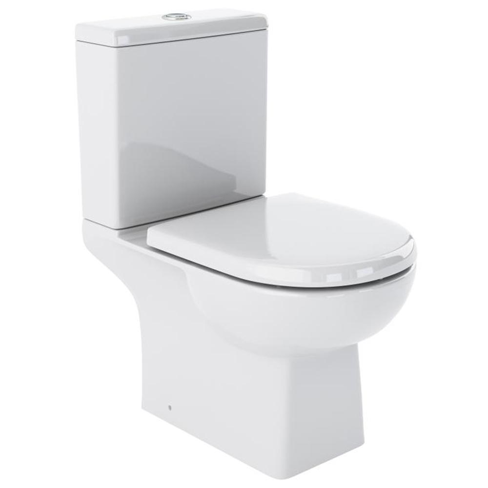 Marina Modern Close Coupled Toilet with Soft Close Seat Large Image