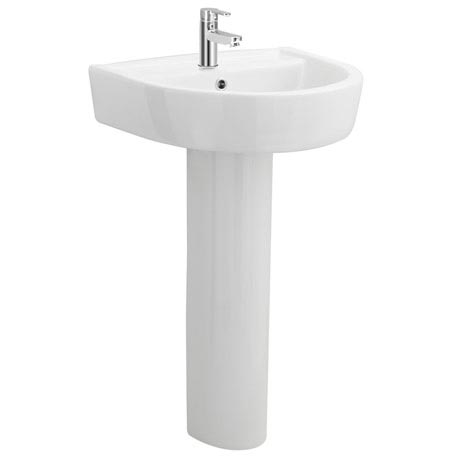 Marino 520mm Round Basin 1TH with Full Pedestal