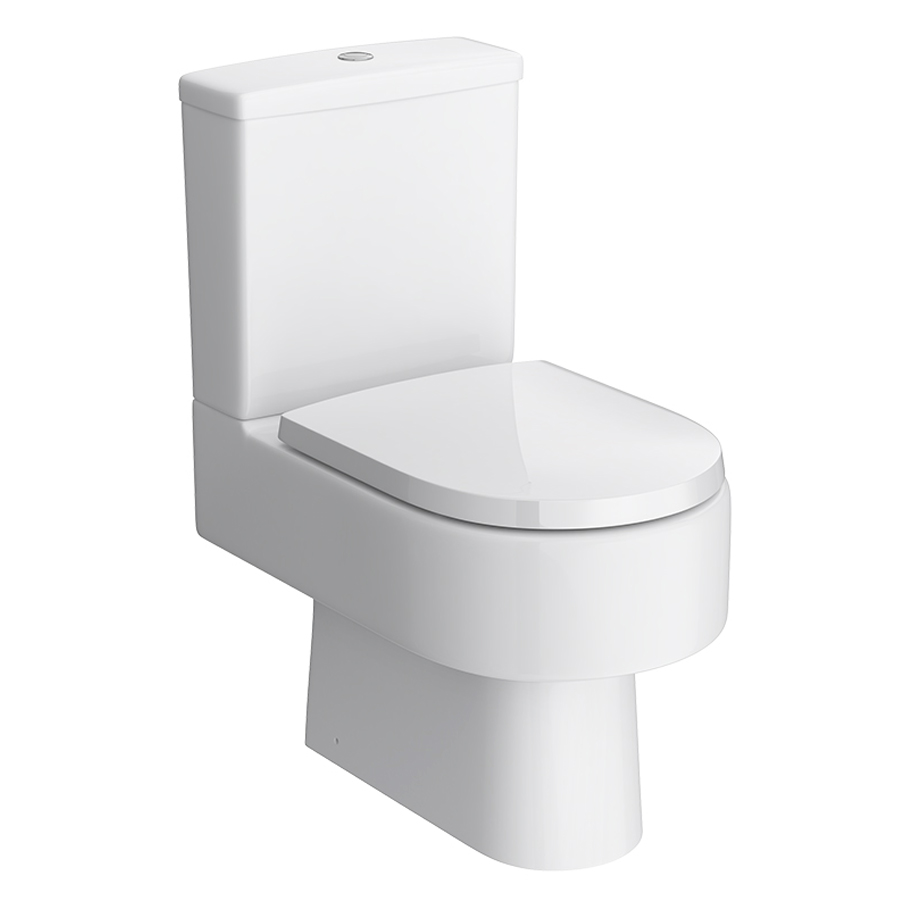 Marino Close Coupled Modern Toilet with Soft-Close Seat profile large image view 1