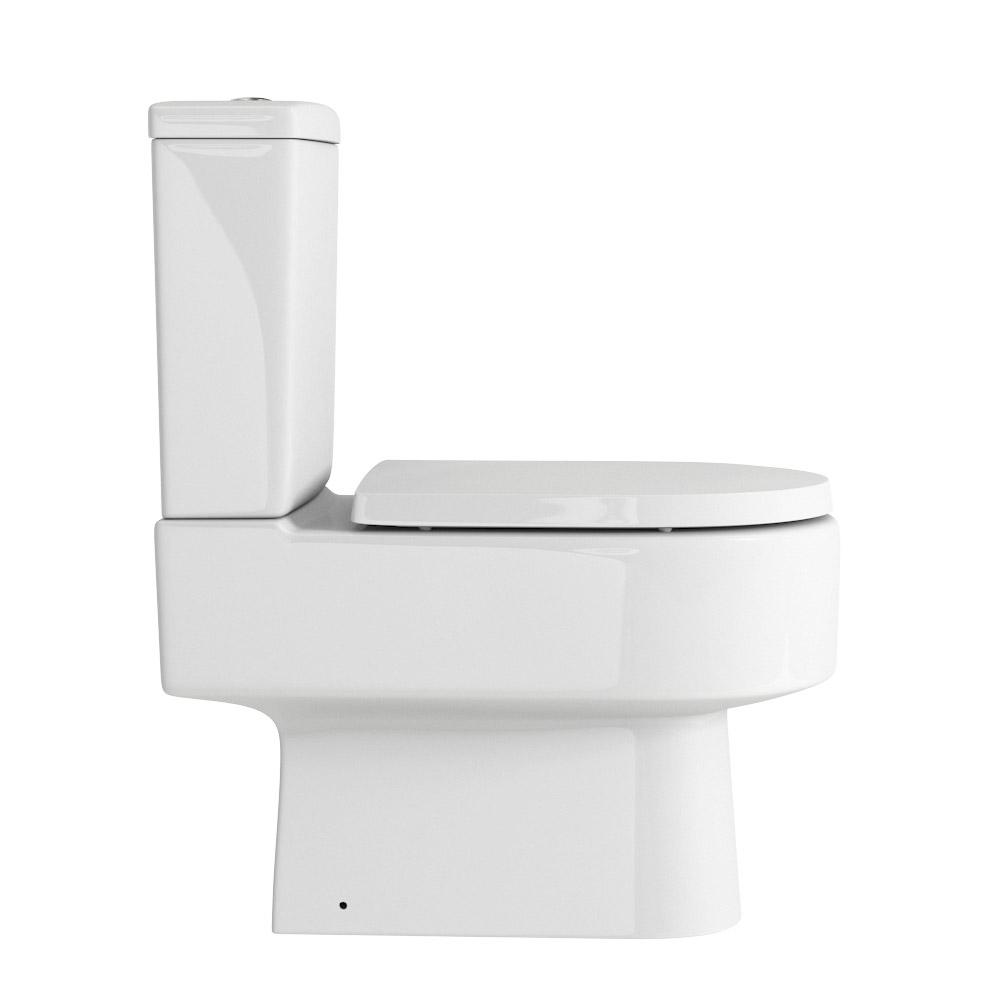 Marino Close Coupled Modern Toilet with Soft-Close Seat profile large image view 2