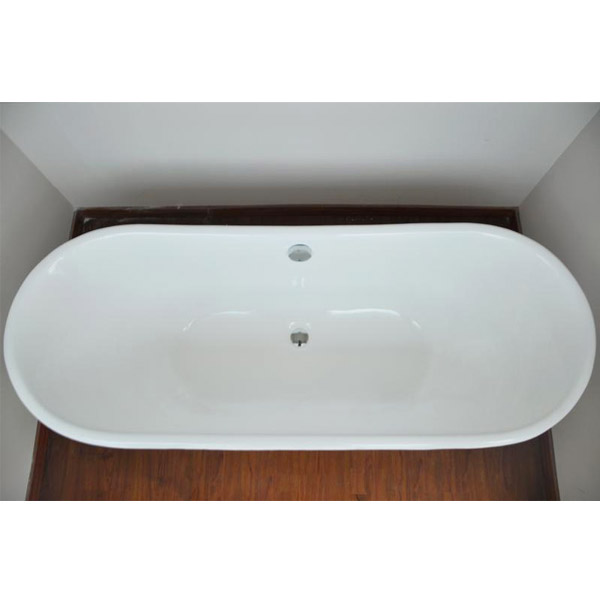 Marseille 1700 x 670mm Roll Top Cast Iron Bateau Bath Feature Large Image