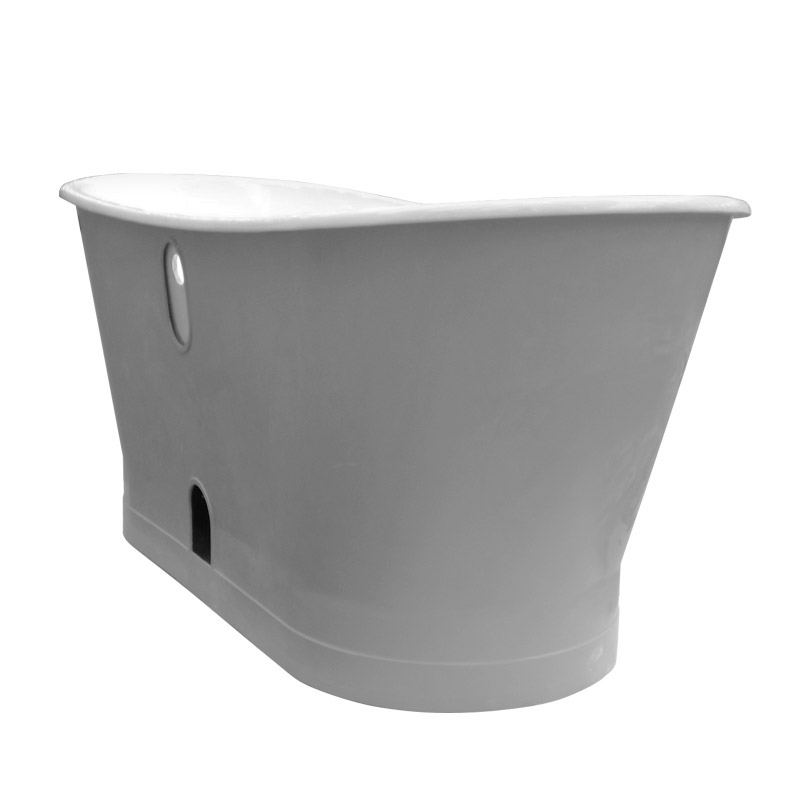 Marseille 1700 x 670mm Roll Top Cast Iron Bateau Bath In Bathroom Large Image