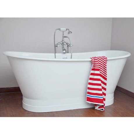 Marseille 1700 x 670mm Roll Top Cast Iron Bateau Bath