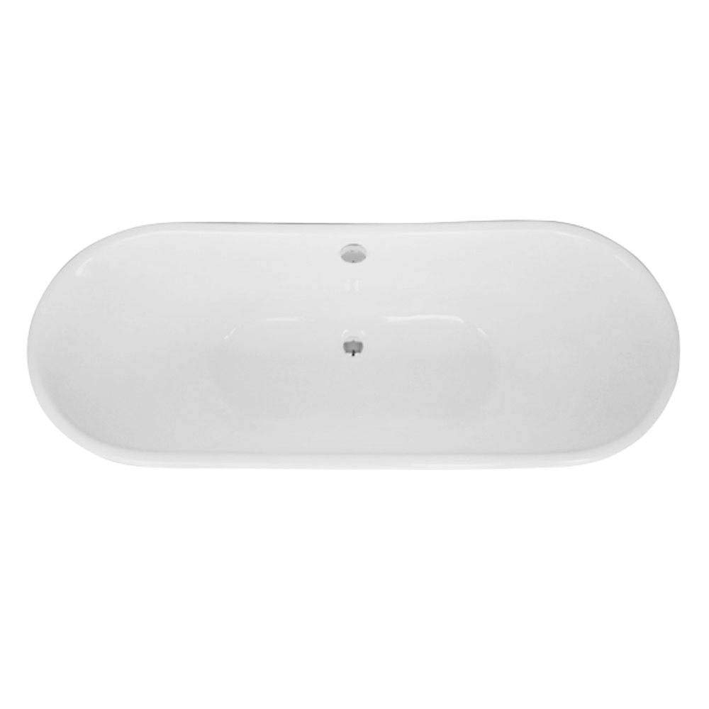 Marseille 1700 x 670mm Roll Top Cast Iron Bateau Bath profile large image view 5