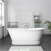 Marseille 1700 x 670mm Roll Top Cast Iron Bateau Bath profile small image view 1