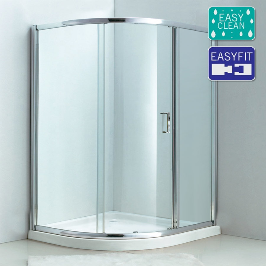 Matrix single sliding offset quadrant shower enclosure for 1000 door