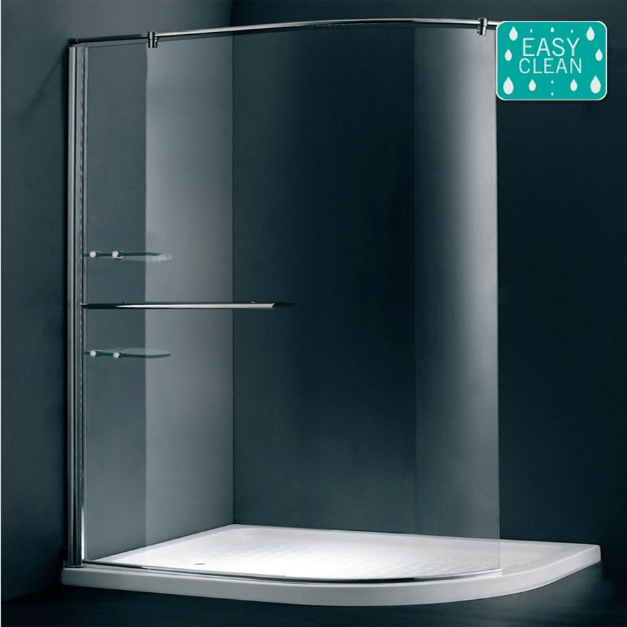Matrix 1200 X 900mm Curved Walk In Shower Screen