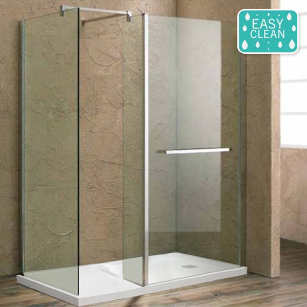 Matrix 1700 x 760mm Ultimate Walk In Enclosure 10mm with Side Panel & Tray profile large image view 1