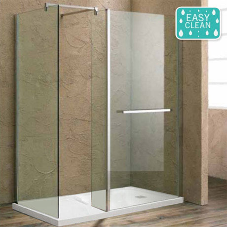 Matrix 1700 x 760mm Ultimate Walk In Enclosure 10mm with Side Panel & Tray