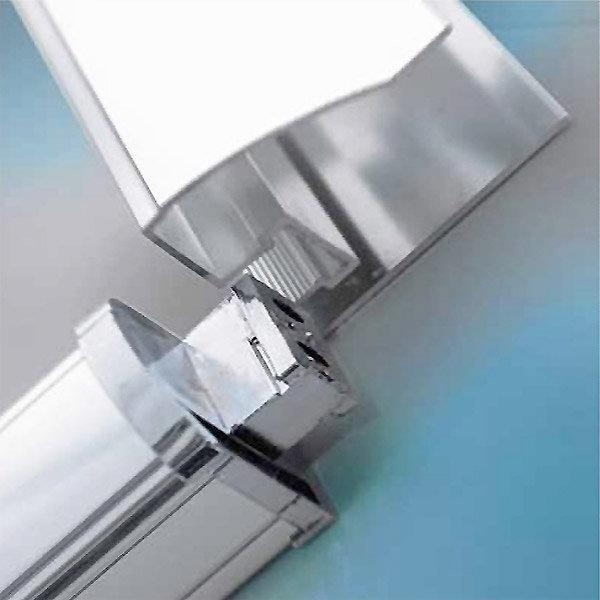 Matrix 1850mm Double Sliding Offset Quadrant Shower Enclosure Only Profile Large Image