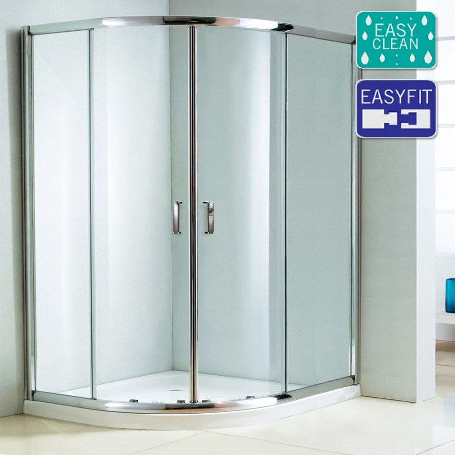 Matrix 1850mm Double Sliding Offset Quadrant Shower Enclosure Only Large Image