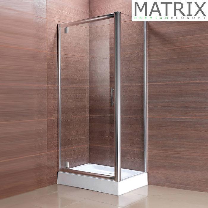 Matrix Premium Economy Pivot Door Square Shower Enclosure | Online Now