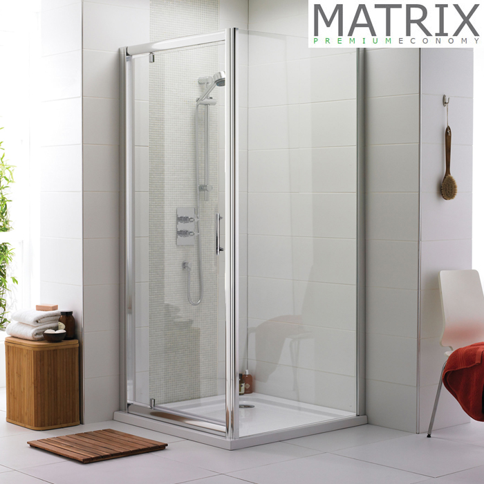Matrix 700 x 700mm Premium Economy Pivot Door Shower Enclosure Online