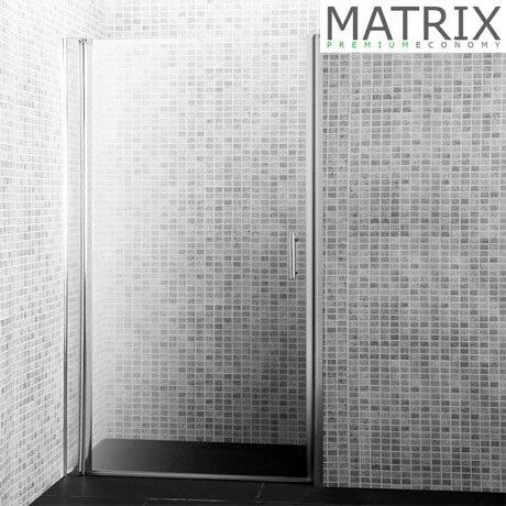 Matrix H1850 Premium Economy Barrel Hinged Shower Door 6mm - Various Sizes