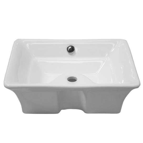 Riviera Counter Top Basin 1TH - 490 x 385mm profile large image view 2