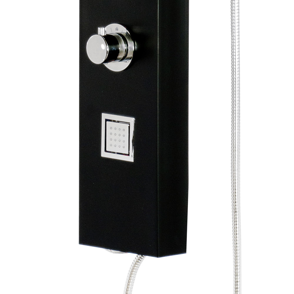 Maverick Tower Shower Panel (Thermostatic) - Black Standard Large Image