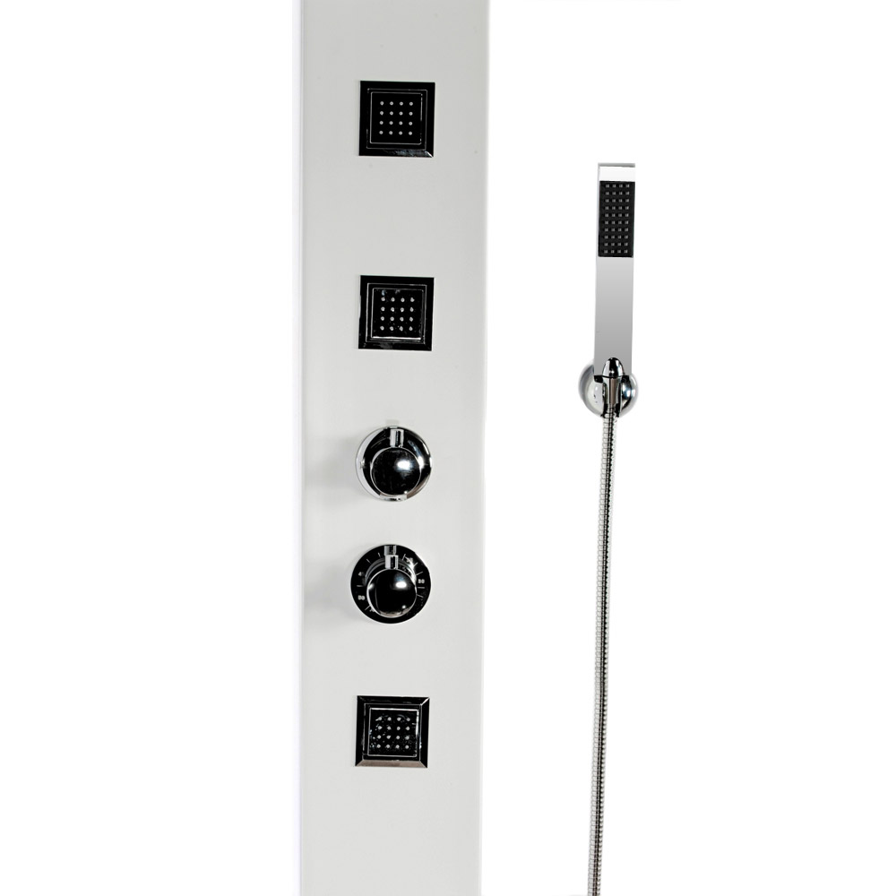 Maverick Tower Shower Panel (Thermostatic) - White Feature Large Image