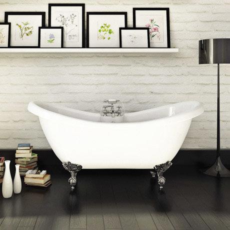 Mayfair 1760 X 740 Double Ended Slipper Freestanding Bath