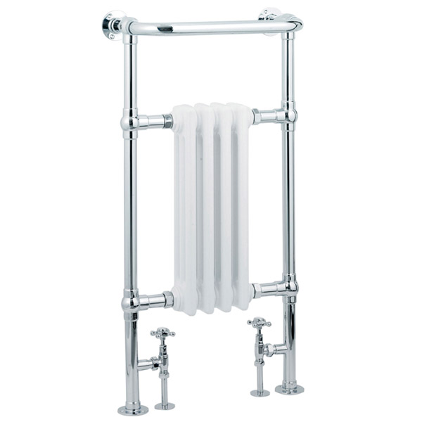 Mayfair Traditional Chrome Heated Towel Rail H965mm x W495mm Large Image