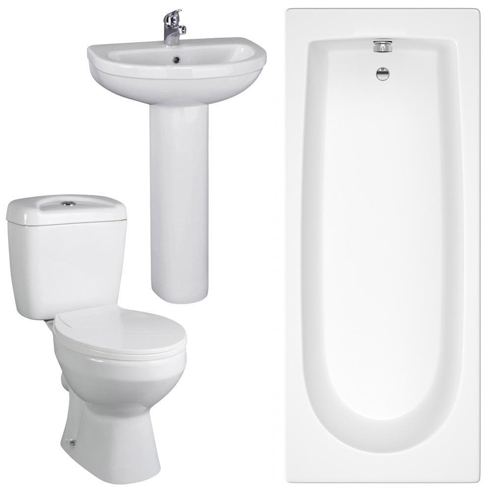 Melbourne 5 Piece Bathroom Suite - 3 Bath Size Options at ...