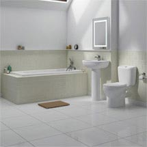 Melbourne 5 Piece Bathroom Suite - 3 Bath Size Options Medium Image