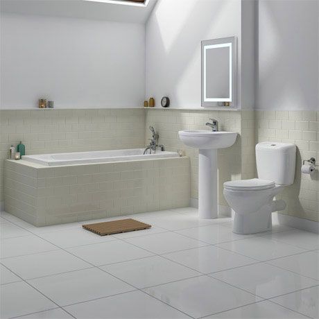 Melbourne 5 Piece Bathroom Suite - 3 Bath Size Options