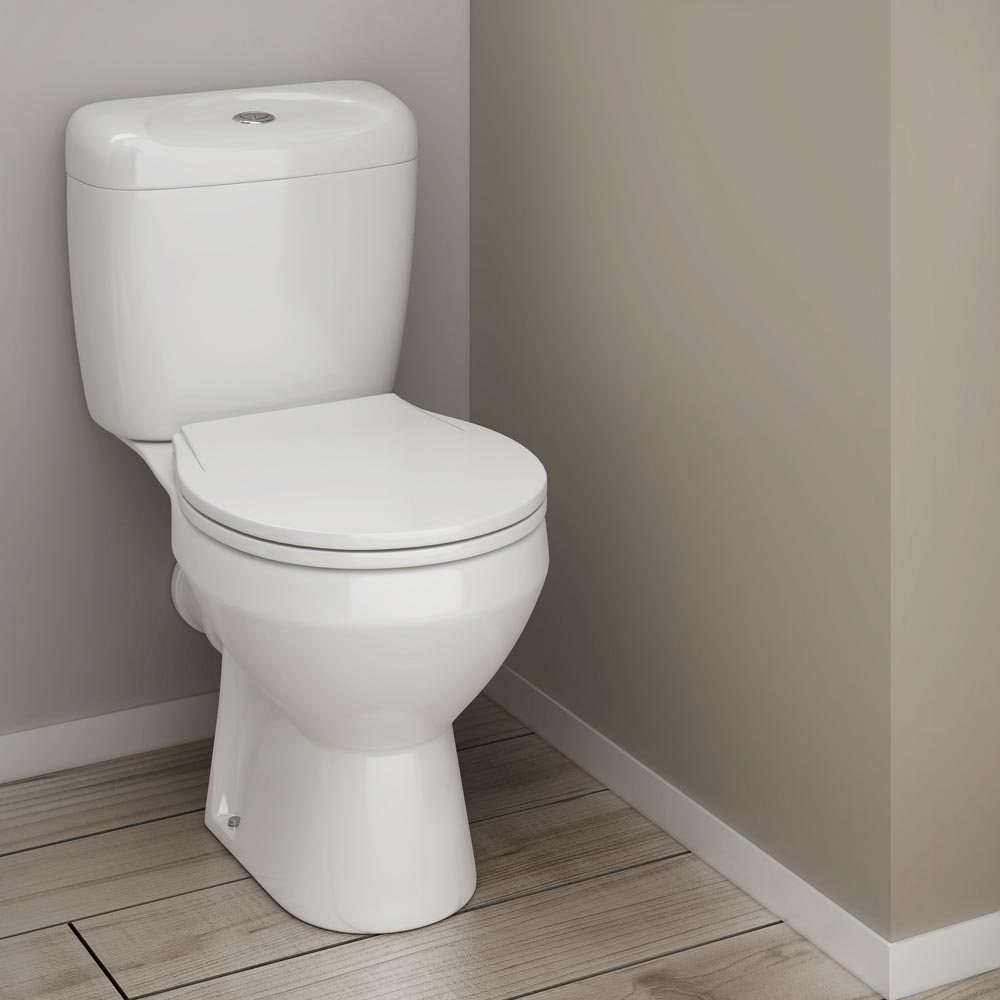 Melbourne Ceramic Close Coupled Modern Toilet Profile Large Image