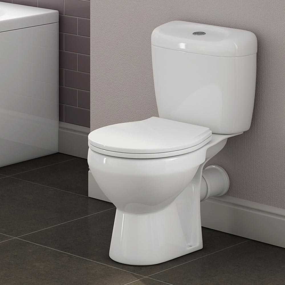 Melbourne Ceramic Close Coupled Modern Toilet Feature Large Image