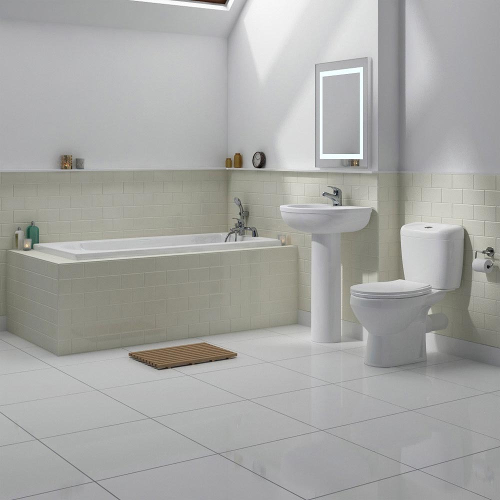 Melbourne Ceramic Close Coupled Modern Toilet Standard Large Image
